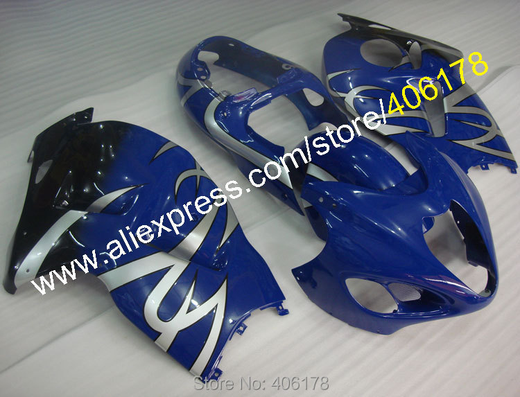 Carenados Hayabusa para GSXR1300 99-07 GSX R1300 1999-2007 GSX-R1300 kit de carenado azul ABS (moldeo por inyección)
