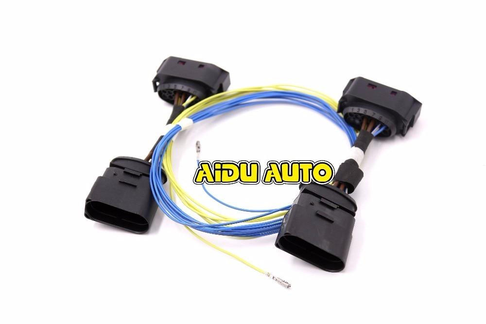 AIDUAUTO HID Xenon Headlight 10 to 12 Pin Connector Adapter harness Wire  FOR  VW Jetta MK5