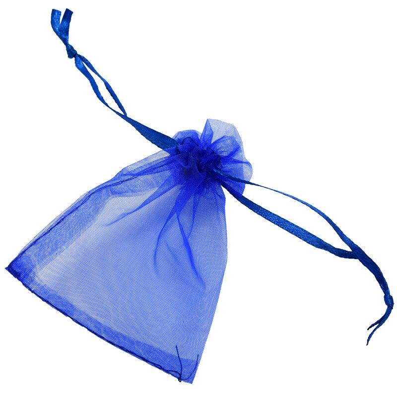 100X bolsa de Organza bolsitas de joyería azul