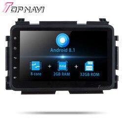 """Autoradio din 8 2 """"Core Octa Android 8.1 de Navegação GPS Do Carro Para Honda Vezel 2015 Stereo Multimedia Audio player com WI-FI NÃO DVD"""