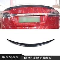 Carbon Fiber Rear Boot Spoiler for Tesla Model S Sedan 60 70 75 85 90 D P85D P90D P100D 2012 - 2019 RZ Style Trunk Wings