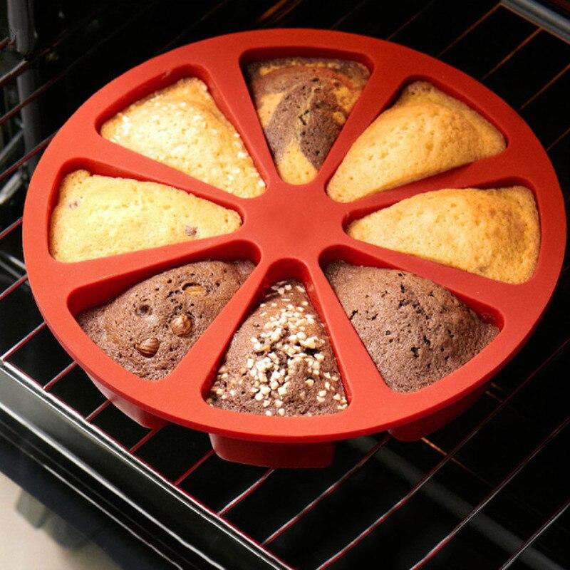 8 полости торт кастрюли 3D силиконовые формы для торта DIY выпечки Кондитерские инструменты торт форма для духовки хлеб жаропрочная посуда для пиццы форма для выпечки кекса