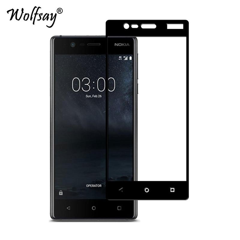 Protector de pantalla completo de 2 piezas para vidrio Nokia 3 vidrio templado para Nokia 3 TA-1020 TA- 1032 vidrio para Nokia3 película cubierta completa