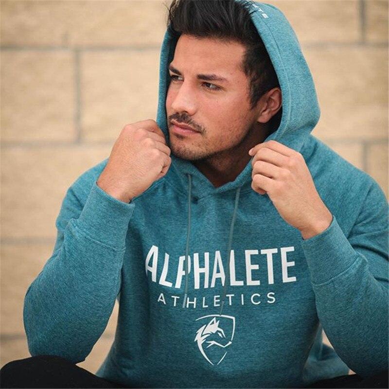 2018 Men gyms hoodies men Fitness bodybuilding Sweatshirt pullover sportswear male workout Hooded Jacket clothing
