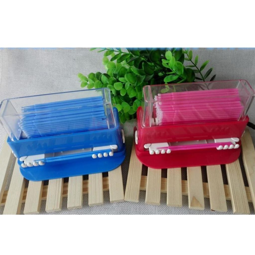 Cepillo de esponja almacenamiento pestañas de caja extensiones de pestañas pegamento eliminación cepillo palo caso