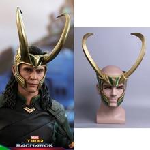 2017 film Thor 3 Ragnarok Loki Laufeyson PVC Cosplay masque casque Halloween accessoire