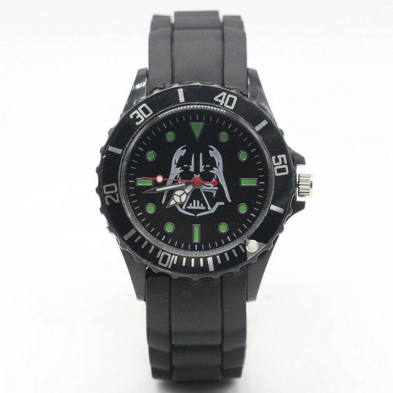 Venta al por mayor, relojes de moda para mujer, reloj de silicona de cuarzo con calavera de Star Wars Marilyn