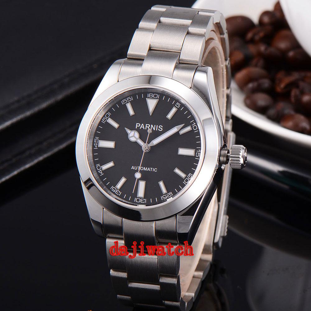 parnis 40mm white dial Sapphire glass miyota Movement automatic mechanicalmens watch