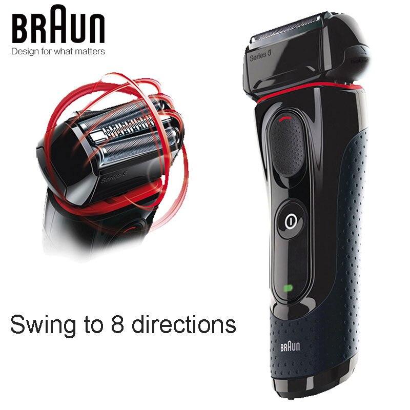 Afeitadora eléctrica Braun 5030s para hombres, cuchillas recargables, afeitadora de alta calidad, seguridad, carga rápida, Triple cabezal de vaivén