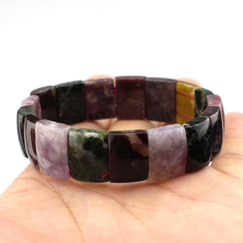 Natural turmalina pedra grânulos pulseira de pedra de energia natural pulseira diy jóias para mulher atacado!