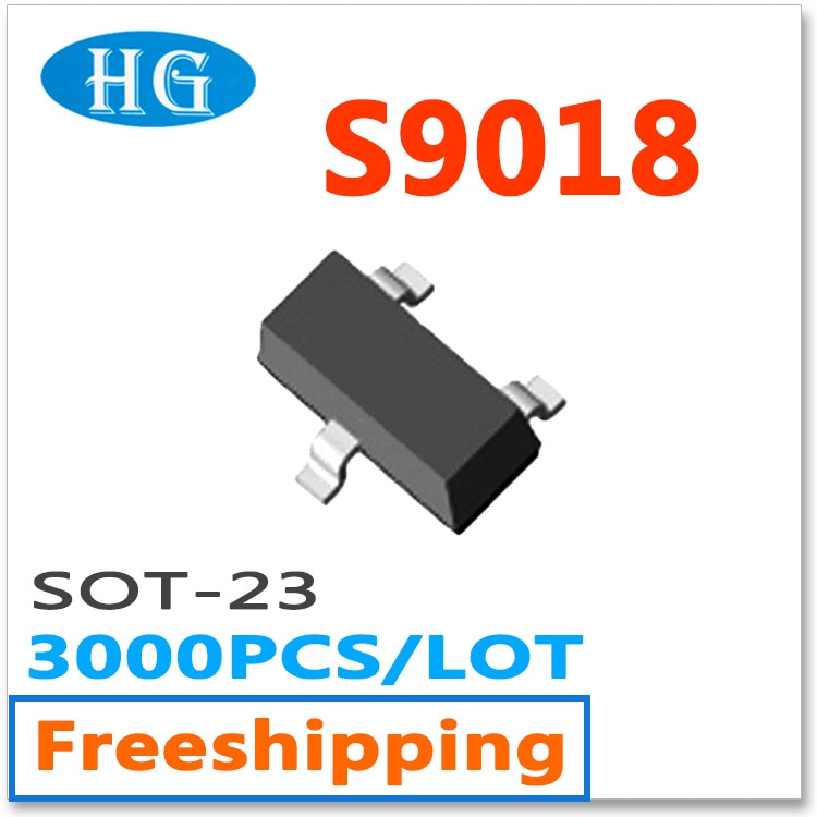 S9018 9018 3000 unids/lote sot23 50mA npn smd mmbt9018 datos dentro Original J8 compras libres de nuevo