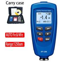 Testeur de mesure dépaisseur de revêtement de peinture à DT-156 numérique 0 ~ 1250um avec sonde automatique F & NF intégrée + câble USB + logiciel CD