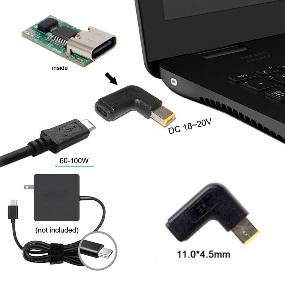 Adaptador de cargador de ordenador portátil, convertidor USB tipo C hembra de...