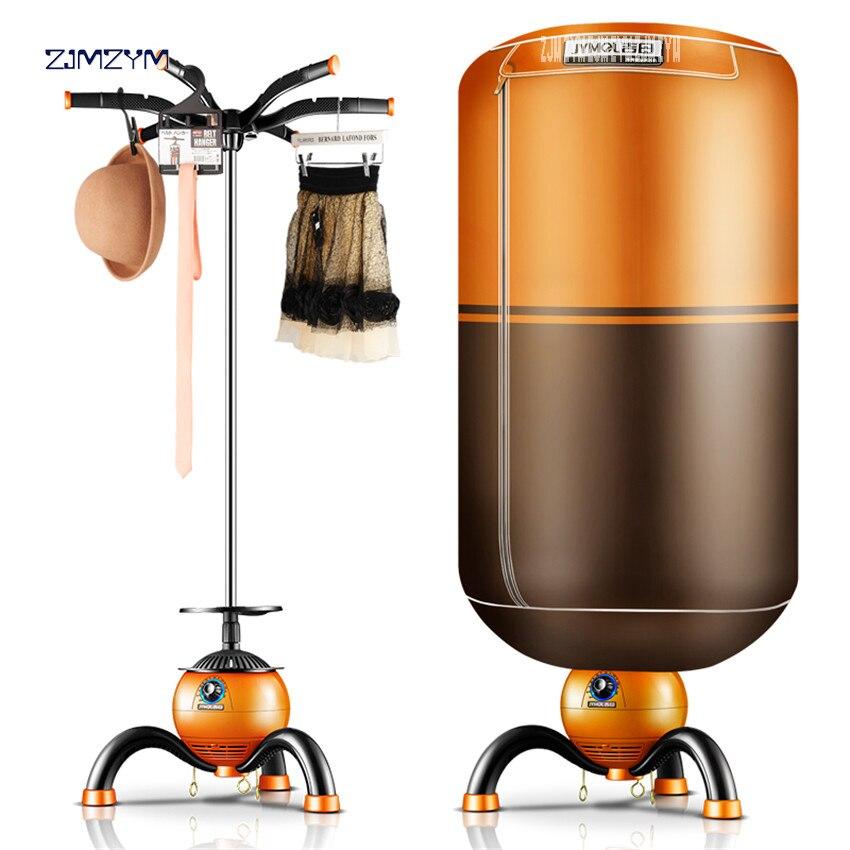 JM-Q3 novo elétrico portátil ventless roupas secador venda dobrável roupa máquina de secagem laranja digital temporizador automático 220 v/50 hz