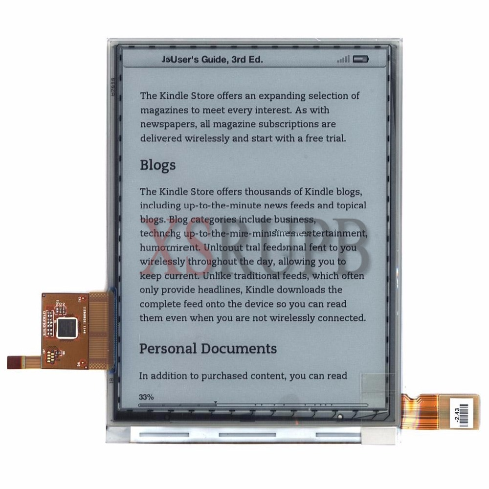 Nueva pantalla lcd de 6 pulgadas ED060SCM (LF) T1 para PocketBook Touch 622 Reader