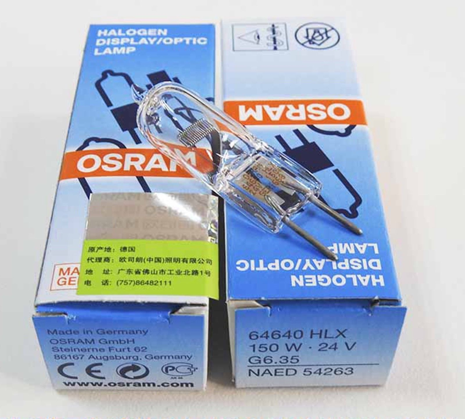 10 коробок Osram 64640 HLX 24V150W G6.35 хирургическая галогеновая лампа без тени