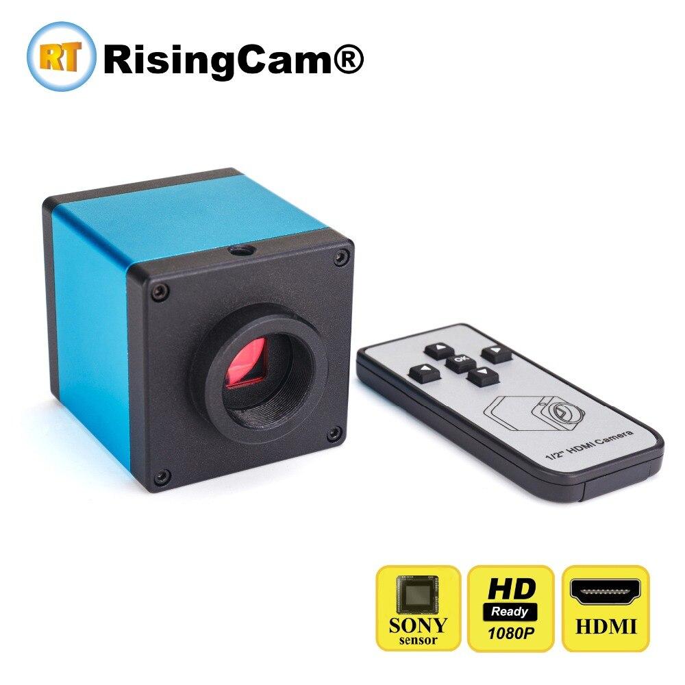 Control remoto SONY imx385 sensor HD 1080P 60FPS HDMI USB C montaje de microscopio de vídeo digital de la cámara para la reparación de PCB