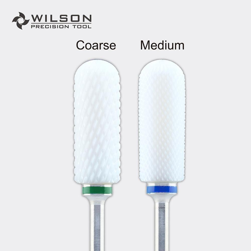 Gran parte superior redondeada poco quitar pie callos poco de cerámica blanca pedicura broca-WILSON herramienta de precisión