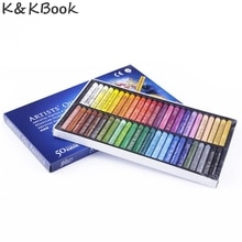 K & KBOOK 50 pièce/ensemble Pastels à lhuile ensemble étudiant papeterie école dessin stylo fournitures 50 crayons de couleur boya kalemi stylo boligrafos