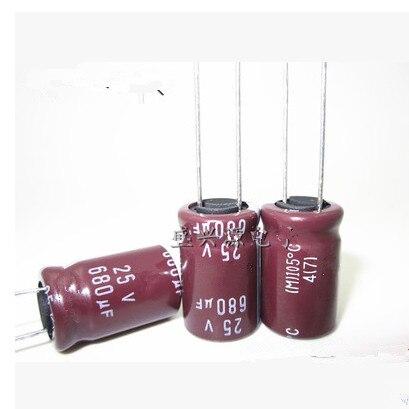 500 Uds 680uF 25V 8*16mm 105C condensador electrolítico 10X16 mejor calidad