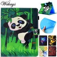 wekays for samsung tab a t350 cartoon panda leather fundas case for samsung galaxy tab a 8 0 t355 t350 t351 tablet cover cases