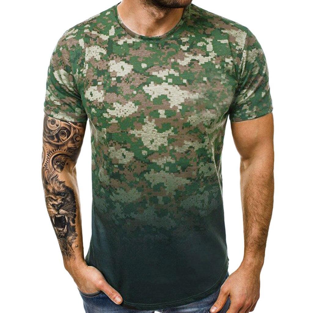Camiseta de ejército militar para hombre, camiseta suelta de estrella para hombre, Camiseta con cuello redondo de talla Alpha America, camisetas de manga corta, estampado informal de camuflaje 5,14