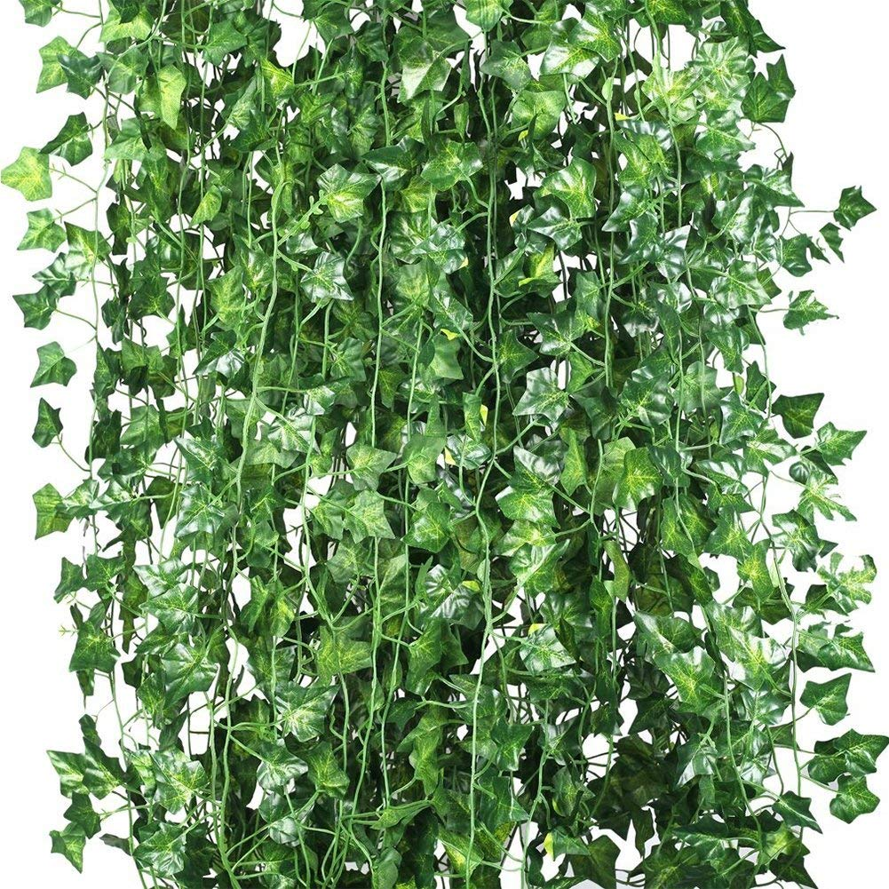 12 x artificial plants of vine false flowers ivy hanging garland for the wedding party Home Bar Gard