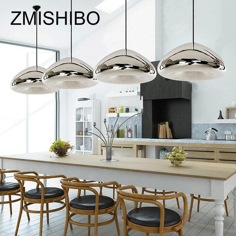ZMISHIBO Modern Glass Pendant Lamp 110-240V E27 G4 Chrome Golden Red Bronze Ceiling Surface Mounted For Living Bedroom Dining