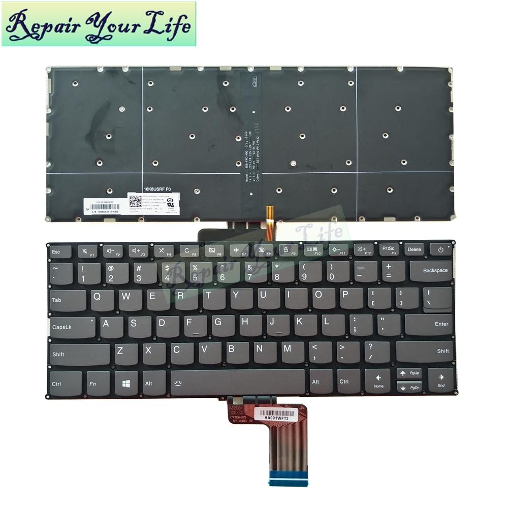 720S 13 الخلفية لوحة المفاتيح لينوفو ideapd 720S-13 720S-13IBR 720S-13AST للولايات المتحدة PC4SPB-US جديد الأصلي