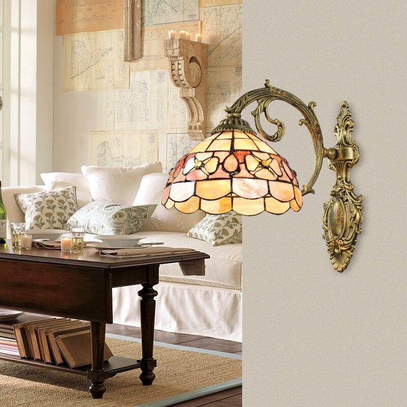 Современная средиземноморская настенная лампа 110 В 220 8 вариантов светодиодный