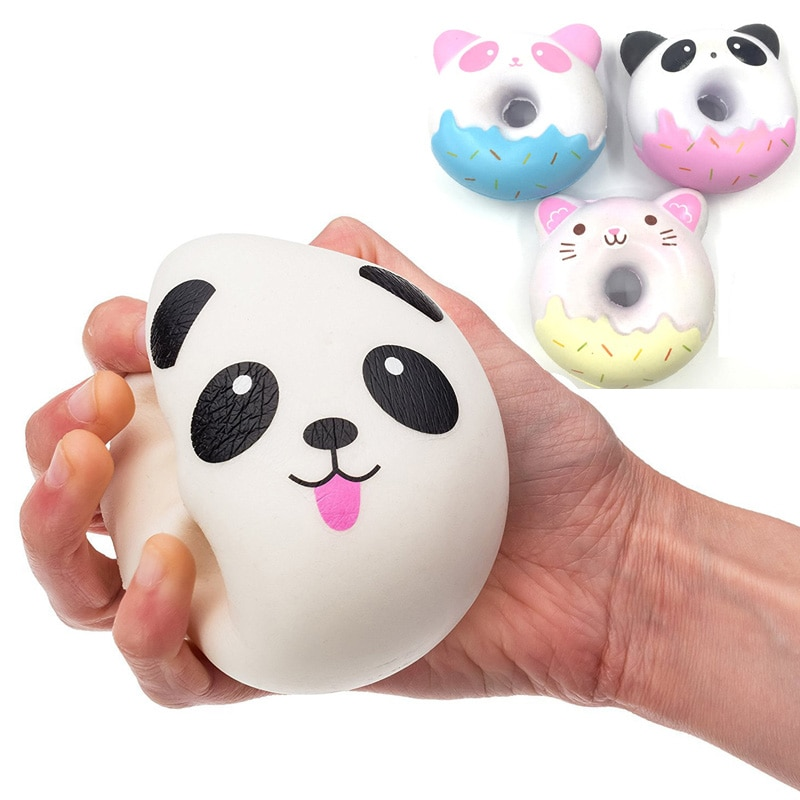 Juguete para apretar blando helado Panda cabeza de oso pastel de Panda estrella pan tostado divertido lento Rising para Anti estrés para regalos de chico