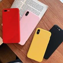 Housse en Silicone souple coloré pour iPhone 11 Pro Max 8 7 6 6S Plus Xs Max Xr X 5 5S SE 8Plus 6splus étui protecteur de téléphone
