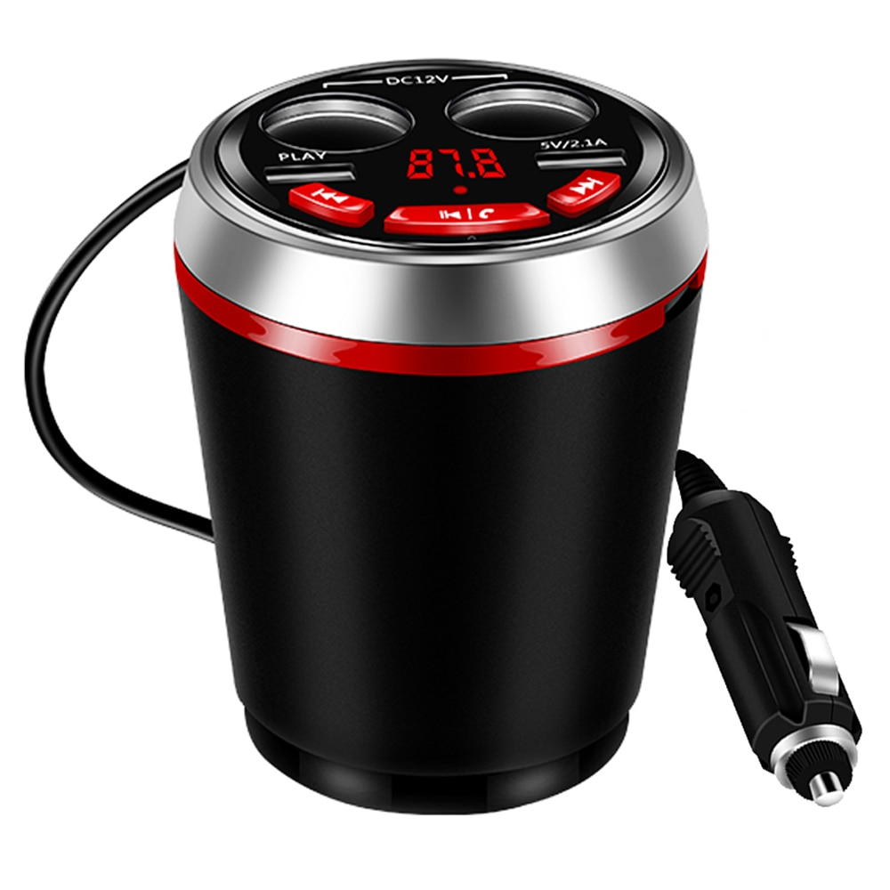 Автомобильное зарядное устройство с двумя usb-разъемами для прикуривателя 12-24 В с Bluetooth и fm-передатчиком, поддержка чтения u-диска