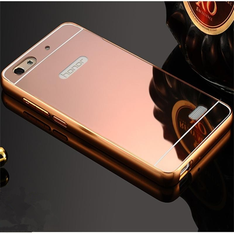 Xinchentech para Huawei Honor 4C/G jugar Mini funda con espejo de lujo Metal + cubierta dura Capa para Honor4C/CHM-U01/CHC-U01/C8818