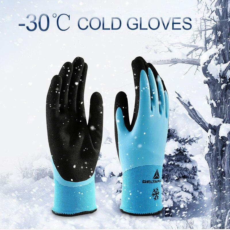 DELTA PLUS Nitrile теплые перчатки с низкой температурой синие износостойкие рабочие