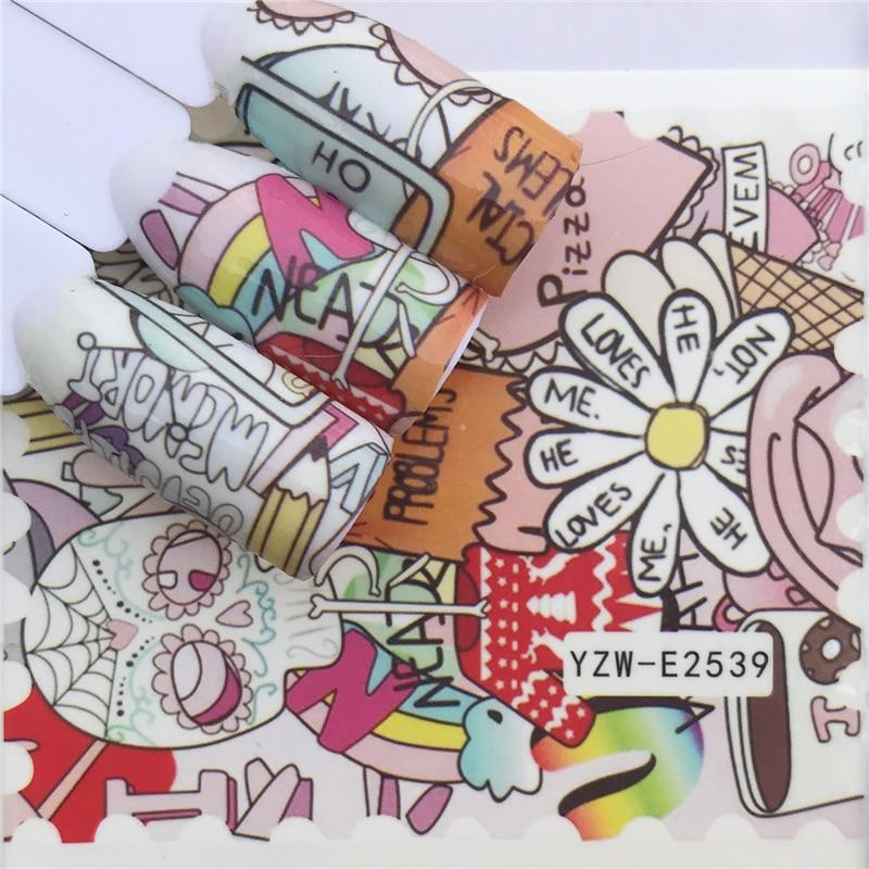 WUF 1 Sheet  Stamp Styles  Nail Art Water Transfer Sticker Decals DIY Tips