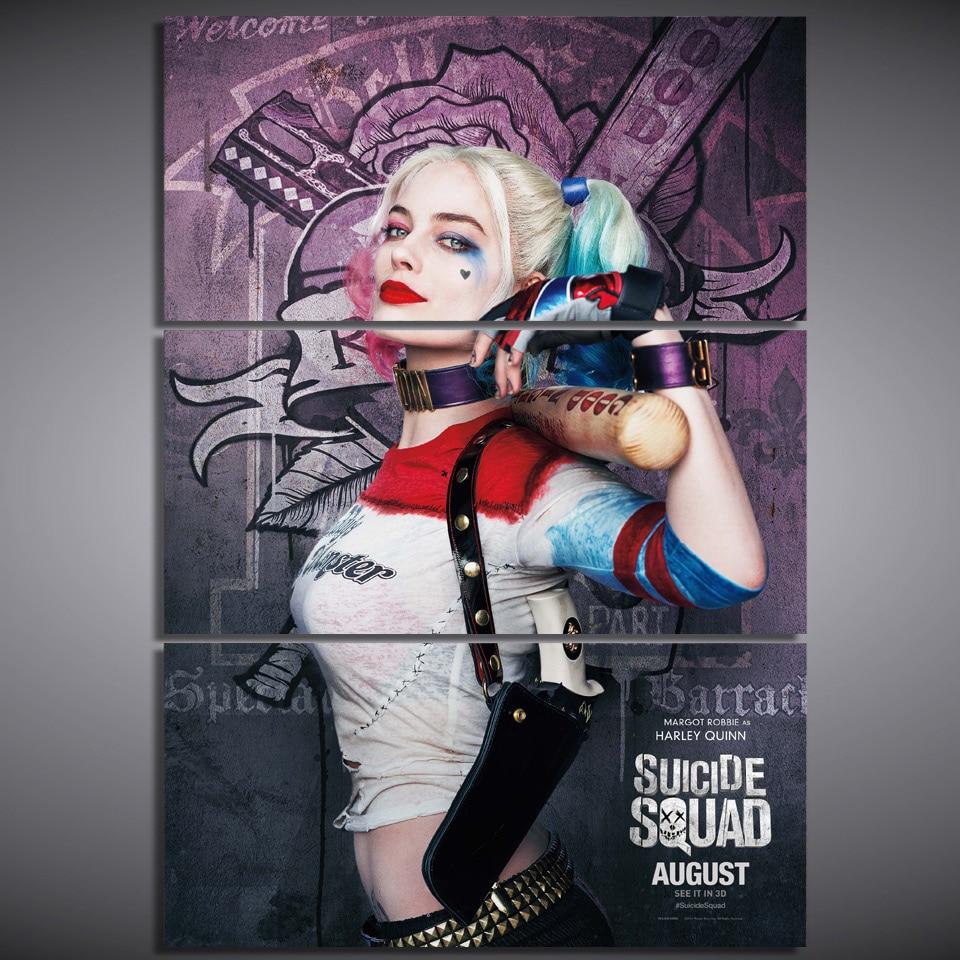 Impresión de lienzo de pintura de Harley Quinn Batman impresión de la decoración de la habitación poster imagen lienzo envío gratis/ny-5706