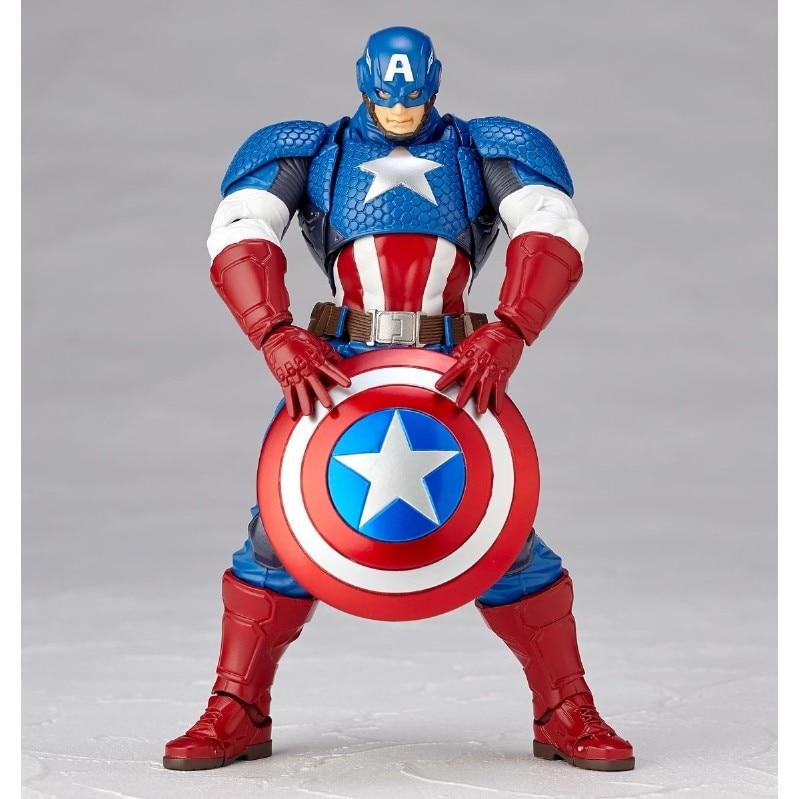 Figura BJD del Capitán América súper héroe Los vengadores de Marvel de 15 cm modelo Giocattoli per I Bambini