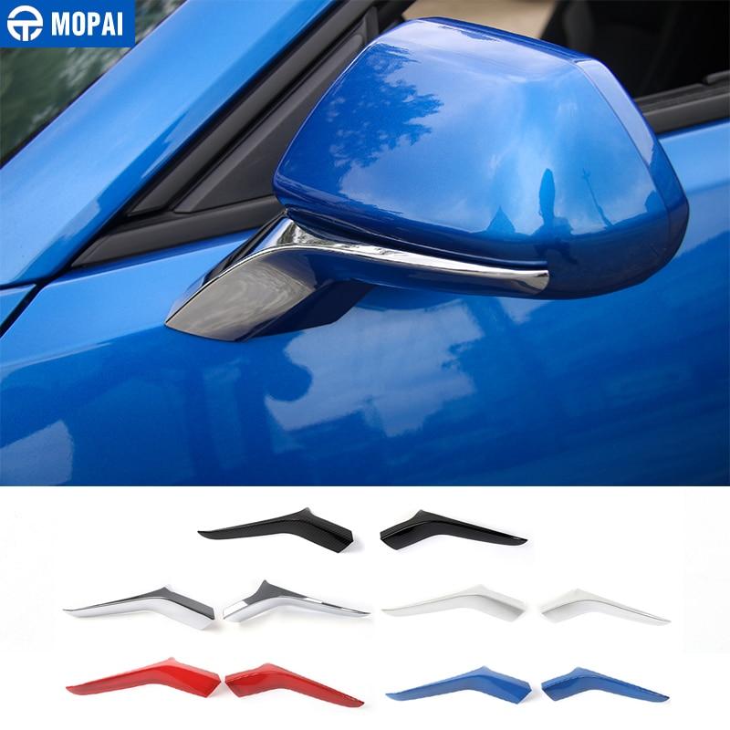 Mopai abs base de espelho retrovisor do carro exterior pedestal decoração capa guarnição adesivos para chevrolet camaro 2017 up estilo do carro