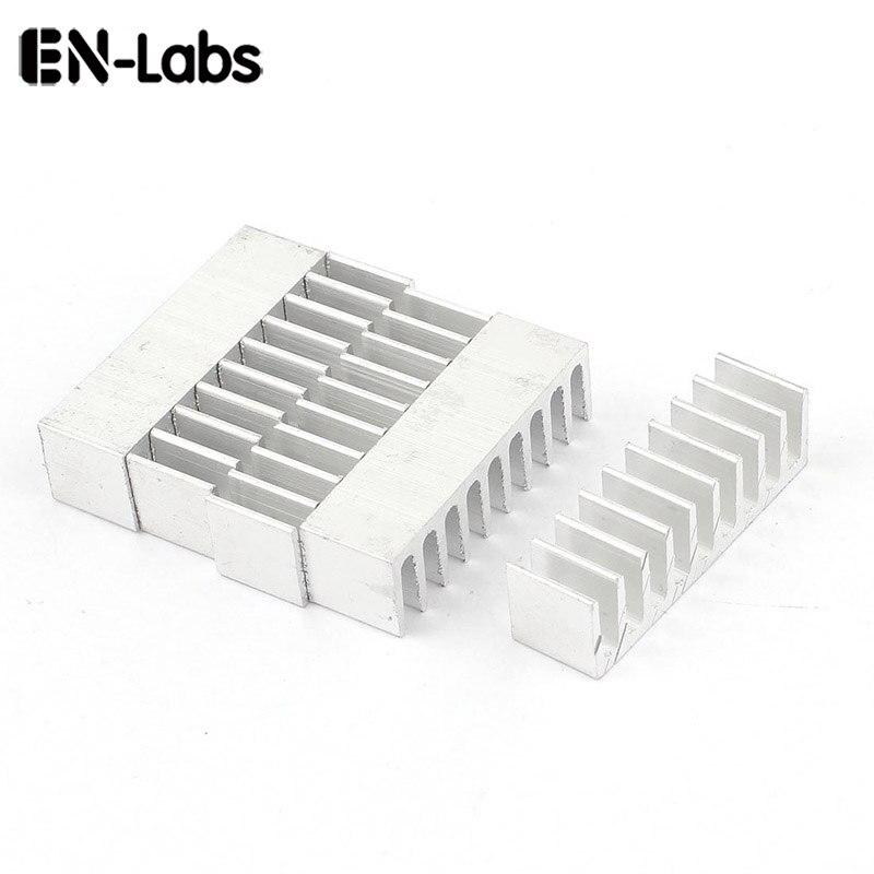 En-Labs 5 unids/lote 35x10x10mm disipador de calor de aluminio disipador de calor para módulo de potencia, regulador de voltaje, disipación de calor Chipset