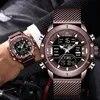 NAVIFORCE גברים של שעון יד יוקרה מותג זכר פלדה עמיד למים קוורץ צבא הצבאי הכרונוגרף ספורט שעון Relogio Masculino