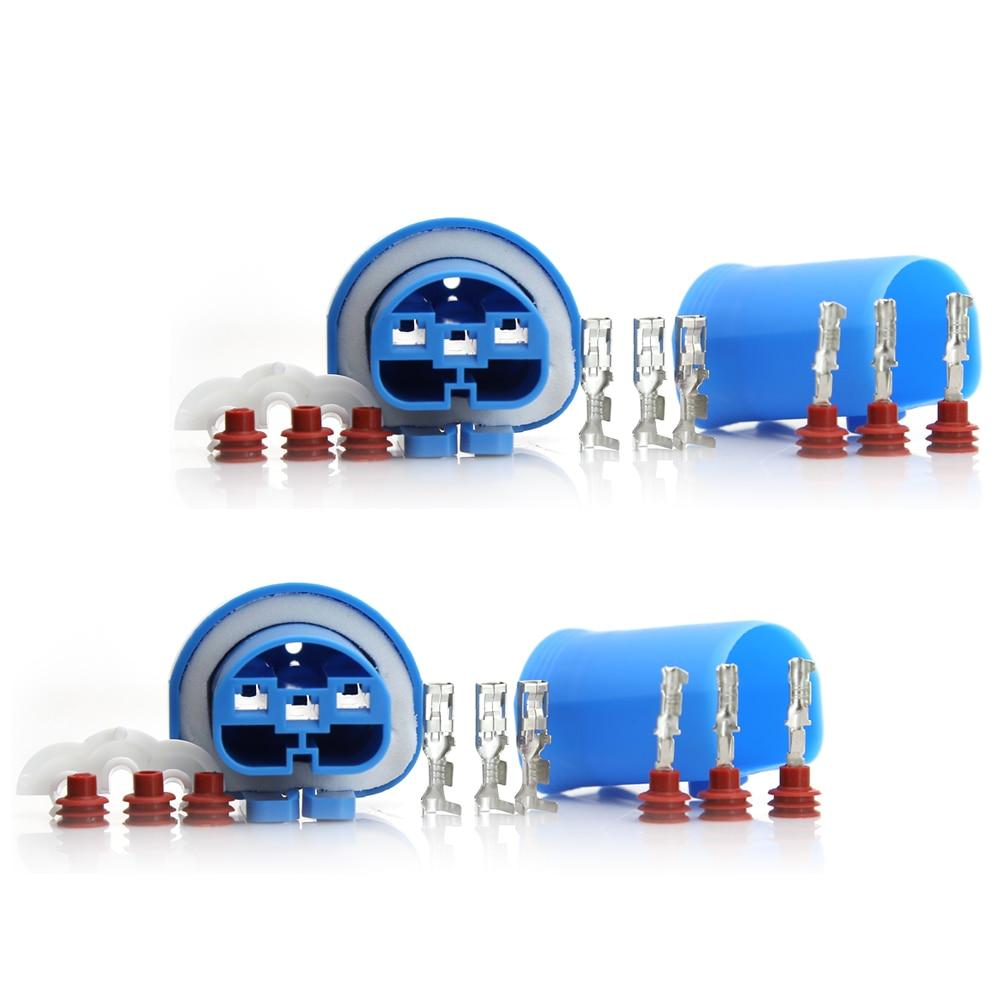 2 conjuntos hembra + macho adaptador HID Bulb Connector Kit para 9004 HB1 9007 HB5 HID halógeno Healamp Plug impermeable #1648*2_1649*2