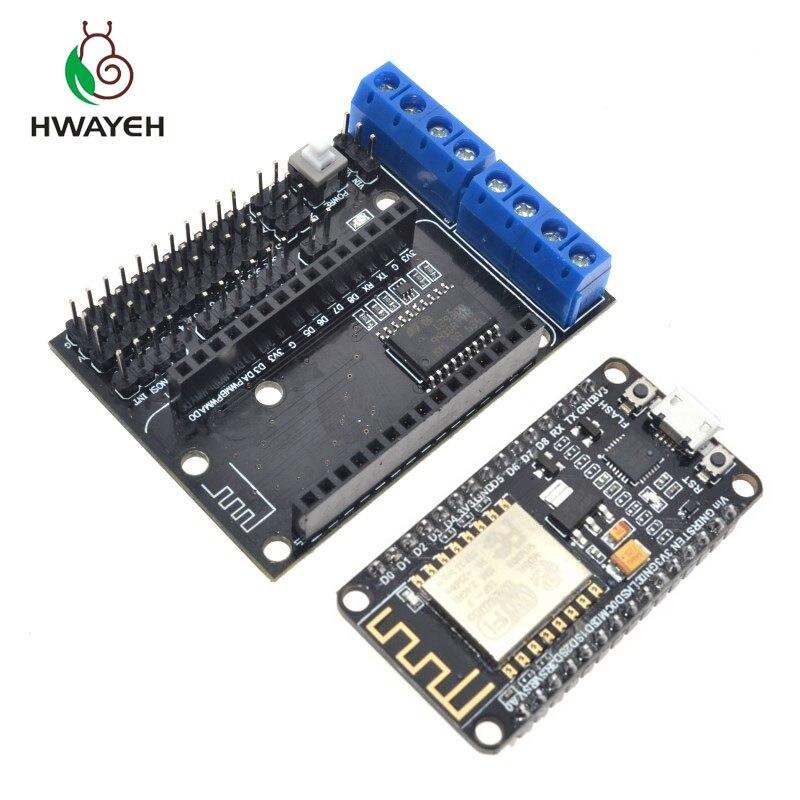Подходит для Node MCU Development Kit V3 CP2102 NodeMCU + защита двигателя Wifi Esp8266 Esp-12e diy rc игрушка дистанционное управление Lua IoT умный автомобиль Esp12e