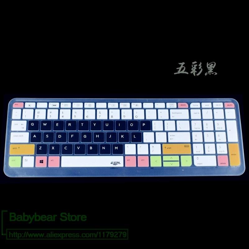 Cubierta de teclado de silicona Protector para Hp Probook 650 G2 G3 G4 / 450 G3 G4 G5 455 G3 I5 I7 15,6 pulgadas