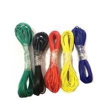2019 nuevo 10 metros UL1007 Cable de PVC Cable Ultra flexible Cable 24AWG 1,4mm Cable electrónico de PVC certificación UL