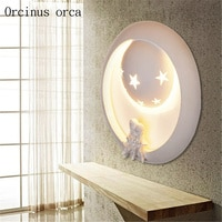 Creative cartoon wall lamp boy girl bedroom children's room decorative wall lamp eye protection LED lamp free shipping