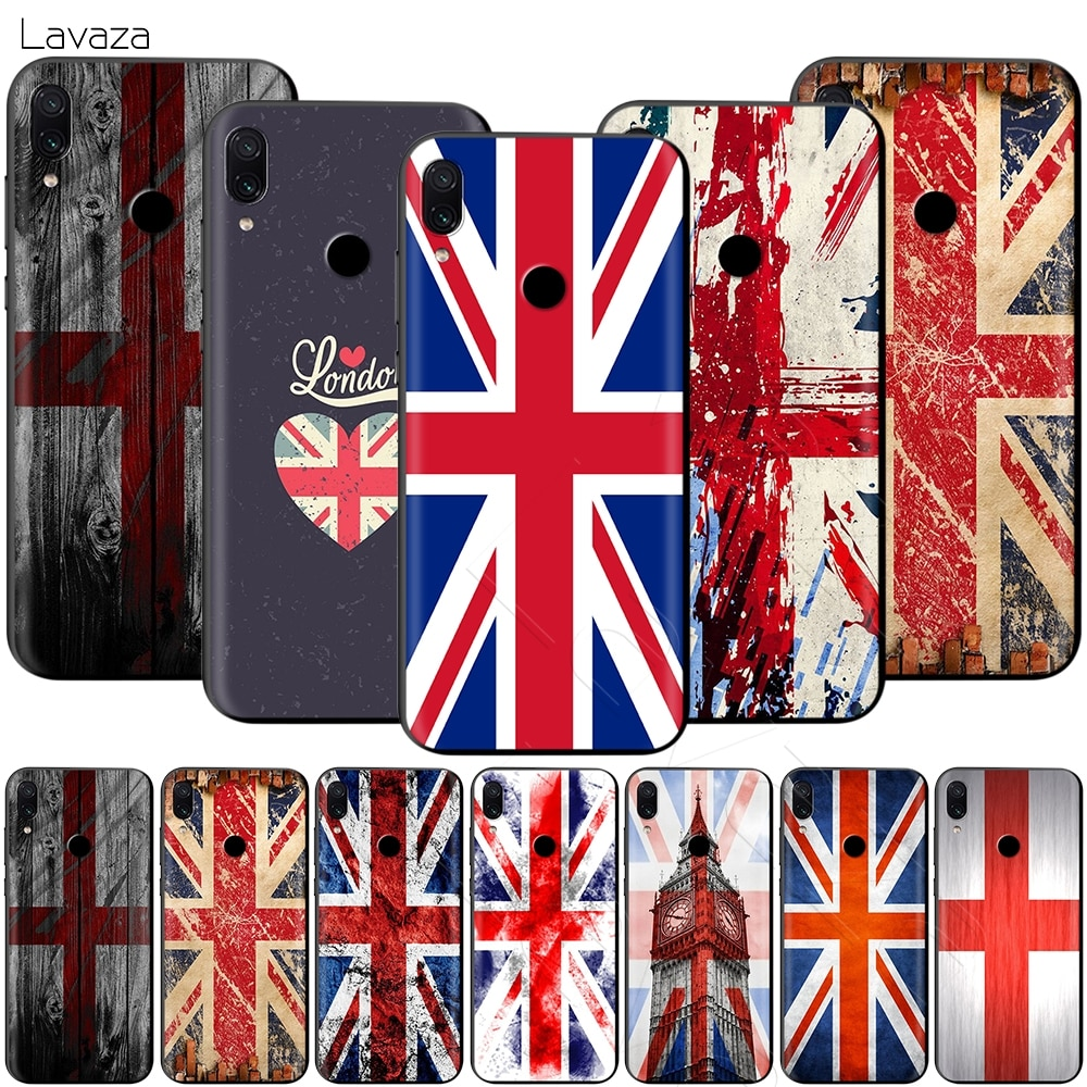 Inglaterra Inglés británico carcasa de la bandera del Reino Unido para Xiaomi Redmi Nota 8 9 9 S K30 Pro MI MAX 3 6 9 SE A1 A2 A3 10 Lite Plus 8A F1