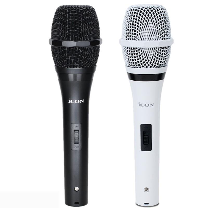 Icon iPLUG-M micrófono condensador de estudio de mano vocal/instrumento de grabación de micrófono para iPad, iPhone y iPod touch karaoke