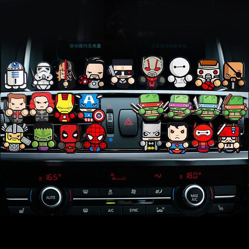 Cartoon Lufterfrischer Auto Styliing The Avengers Star Wars Iron Man Captain America outlet parfüm Auto Klimaanlage Vent Clip
