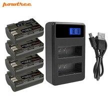 Bonacell 7.2V 2800mAh BP-511 BP-511A BP 511A batterie + LCD double chargeur pour Canon EOS 40D 300D 5D 20D 30D 50D 10D D60 G6 L10
